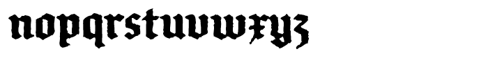 FF Brokenscript Rough Condensed Bold Font LOWERCASE