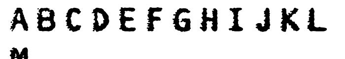 FF Burokrat One Regular Font LOWERCASE