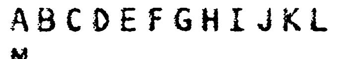 FF Burokrat Two Regular Font UPPERCASE