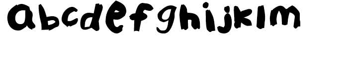 FF Childs Play Age Nine Regular Font LOWERCASE