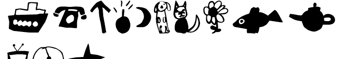 FF Childs Play Dingbats Font UPPERCASE