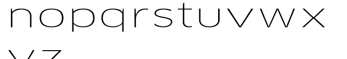 FF Clan Extended Thin Font LOWERCASE