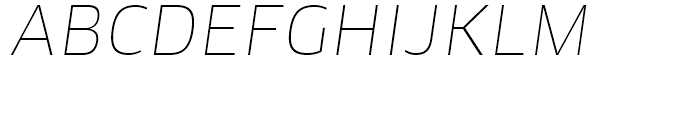 FF Clan Thin Italic Font UPPERCASE