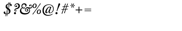 FF Clifford Eighteen Regular Italic Font OTHER CHARS