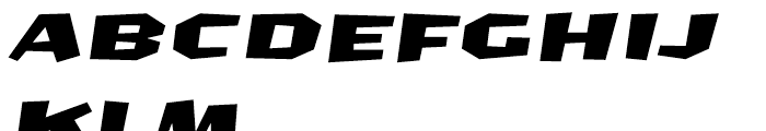 FF CrashBangWallop Medium Italic Font UPPERCASE