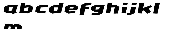 FF CrashBangWallop Medium Italic Font LOWERCASE