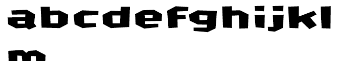 FF CrashBangWallop Medium Font LOWERCASE