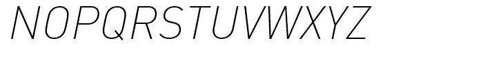 FF DIN Extra Light Italic Font UPPERCASE