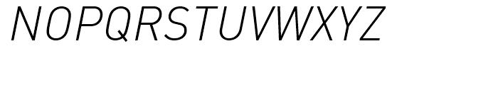 FF DIN Light Italic Font UPPERCASE