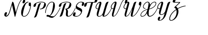 FF Danubia Script Regular Font UPPERCASE