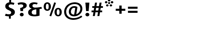 FF Dax Wide Bold Font OTHER CHARS
