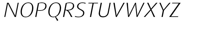 FF Dax Wide Light Italic Font UPPERCASE