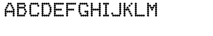 FF Dot Matrix One Regular Font UPPERCASE