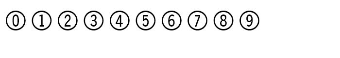 FF Double Digits Round Font OTHER CHARS