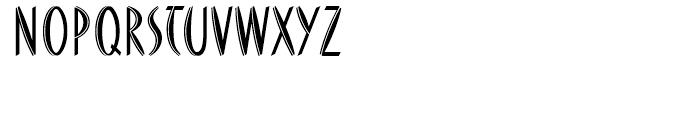 FF DuMoore Inline Regular Font UPPERCASE