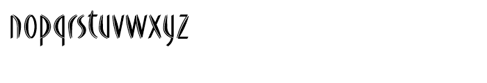 FF DuMoore Inline Regular Font LOWERCASE