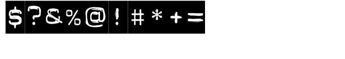 FF Dynamoe Regular Font OTHER CHARS