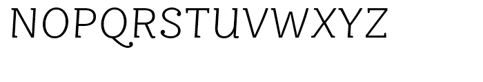 FF Ernestine Light Italic Font UPPERCASE