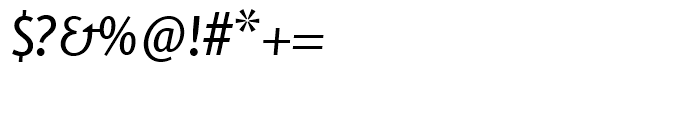 FF Eureka Sans Regular Italic Font OTHER CHARS