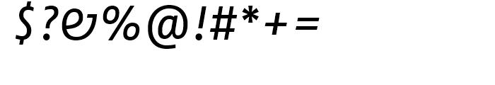 FF Fago Correspondence Sans Regular Italic Font OTHER CHARS