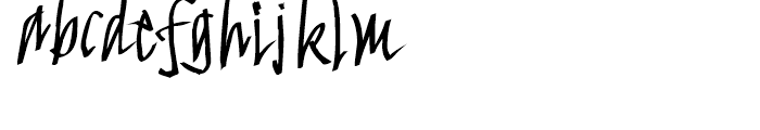 FF FancyWriting Median Font LOWERCASE