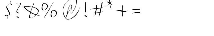 FF FancyWriting Micro Font OTHER CHARS