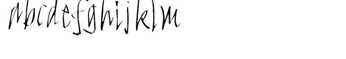 FF FancyWriting Micro Font LOWERCASE