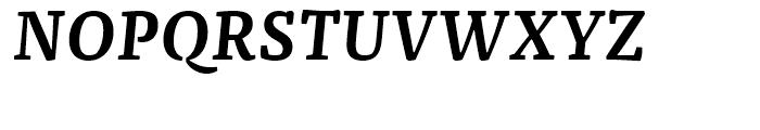 FF Franziska Demi Bold Italic Font UPPERCASE