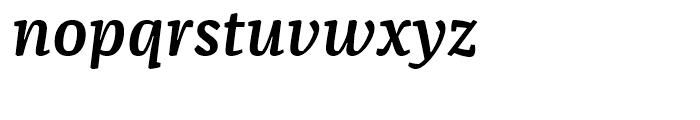 FF Franziska Demi Bold Italic Font LOWERCASE