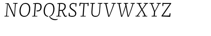 FF Franziska Light Italic Font UPPERCASE