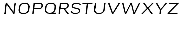 FF Good Headline Extended Light Italic Font UPPERCASE