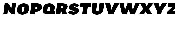FF Good Headline Extended Ultra Italic Font UPPERCASE