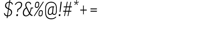 FF Good Narrow Light Italic Font OTHER CHARS