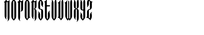 FF Imperial Long Spike Regular Font LOWERCASE