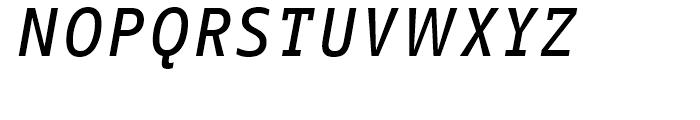 FF Info Correspondence Medium Italic Font UPPERCASE