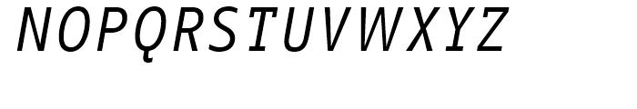 FF Info Correspondence Regular Italic Font UPPERCASE