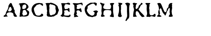 FF Irregular Caps Regular Font UPPERCASE