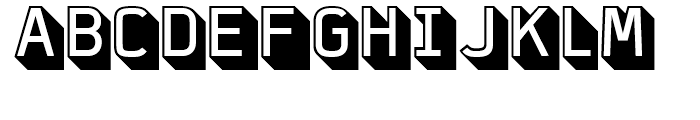 FF Jigger Angled Regular Font UPPERCASE