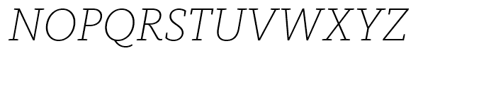FF Kievit Slab Extra Light Italic Font UPPERCASE