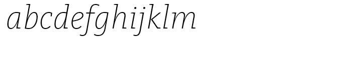 FF Kievit Slab Extra Light Italic Font LOWERCASE