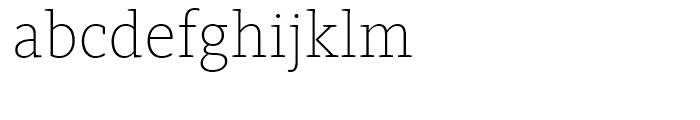 FF Kievit Slab Extra Light Font LOWERCASE
