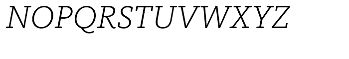 FF Kievit Slab Light Italic Font UPPERCASE