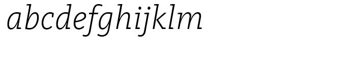 FF Kievit Slab Light Italic Font LOWERCASE