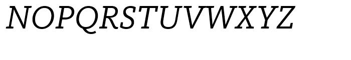 FF Kievit Slab Regular Italic Font UPPERCASE