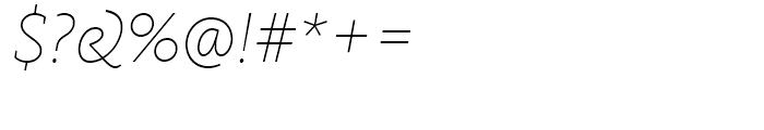FF Kievit Slab Thin Italic Font OTHER CHARS
