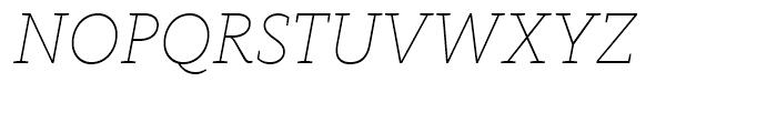FF Kievit Slab Thin Italic Font UPPERCASE