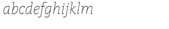 FF Kievit Slab Thin Italic Font LOWERCASE