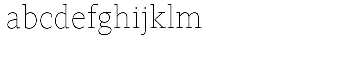 FF Kievit Slab Thin Font LOWERCASE