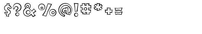 FF Knobcheese Outline Regular Font OTHER CHARS