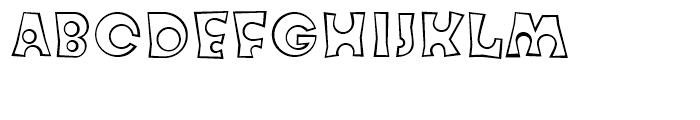 FF Knobcheese Outline Regular Font UPPERCASE